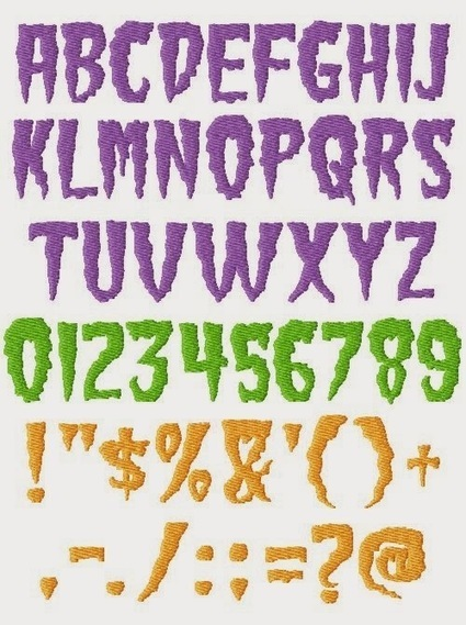 Many Free Cool Font Machine Embroidery Designs to Download | Cool Easy Crafting Guide Blog | Scoop.it