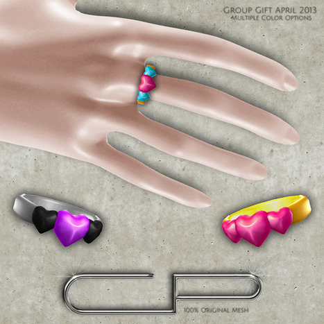 Cute Poison - Heart Ring Group Gift | Second Life Original Content Creators Association | Scoop.it