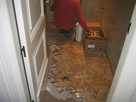 Escher Lizard Flooring Project | The Oddbloke Geek Blog | Art | Scoop.it