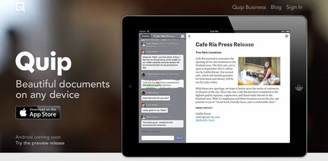 Quip: Beautiful documents on any device | Emerging Digital Workflows [ @zbutcher ] | Scoop.it