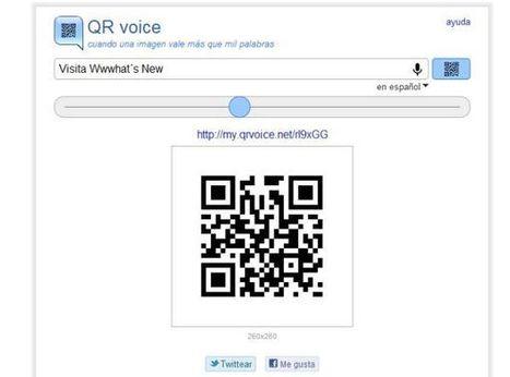 QR voice – introduciendo un mensaje de voz en un código QR | EducationLovesICT | Scoop.it