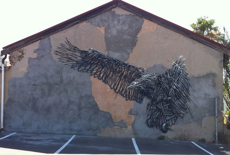 Twisted Metal Murals by DALeast | STREET ART | Looks - Photography - Images & Visual Languages | Scoop.it