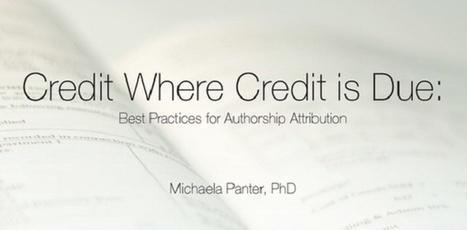 The Ethics of Manuscript Authorship | AJE | American Journal Experts | Comunicação Científica | Scoop.it