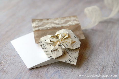 ORIGAMI VALENTINE'S DAY CARD | SAS does ...: ORIGAMI VALENTINE'S DAY CARD | Creative Paper & Ephemera Art | Scoop.it