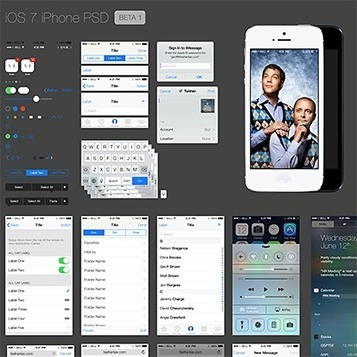 iOS7 Phone GUI PSD | User Experience | Scoop.it