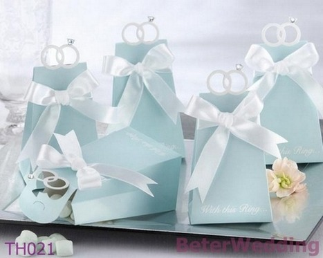 108pcs TH021/A Tiffany Blue Engagement Ring Favor Box | 純歐式婚禮喜糖盒 倍樂婚品 | Scoop.it