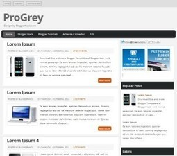 ProGrey Blogger Template Free Download by Indah - HeavenThemes | Things to know | Scoop.it