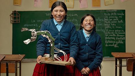Niñas campesinas bolivianas crean un brazo hidráulico con material reciclable - RT | Creatividad en la Escuela | Scoop.it