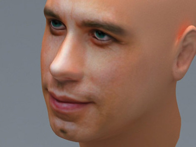 John Travolta visage 3d | 3D Library | Scoop.it