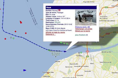 le MV Fram dans l'estuaire de la Seine actuellement   Bateaux et Histoire   Scoop.it