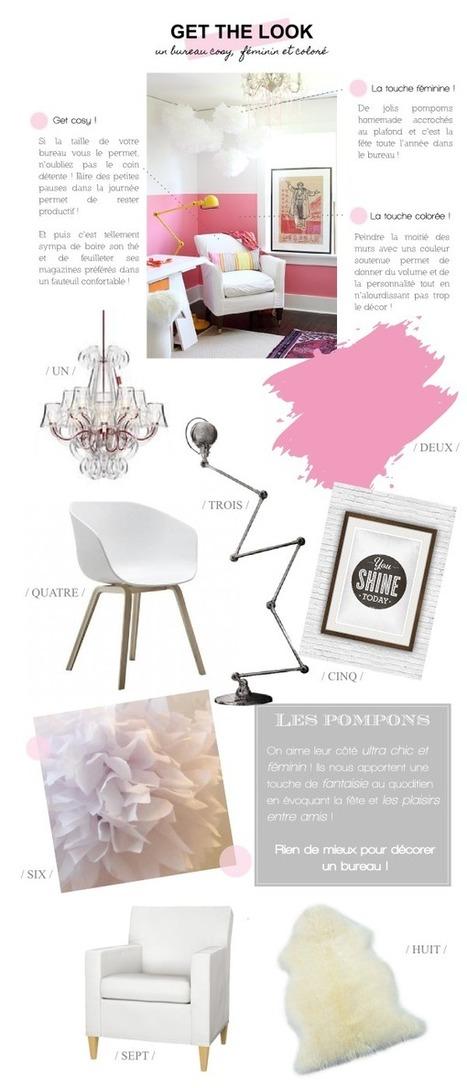 Get the look | Un bureau féminin et vitaminé ! | décoration & déco | Scoop.it