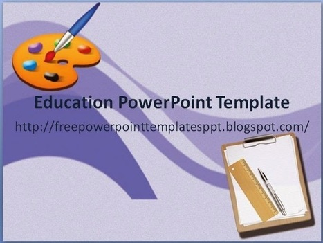 Free Education PowerPoint Template Download for School or College Slide Presentation | Free PowerPoint Presentations Templates Background to Download | Scoop.it