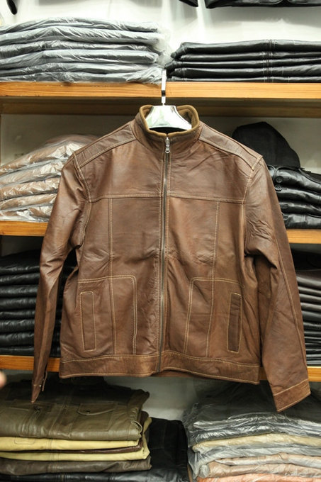 Handmade Distressed brown leather jacket | Shopping | Scoop.it
