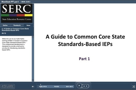 A Guide to Common Core State Standards-Based IEPs | STEMid | Scoop.it