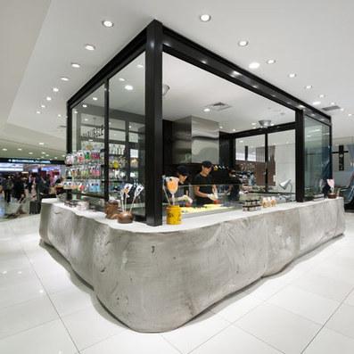 Papabubble sweet shop at Tokyo Daimaru by Schemata Architecture Office   design-beton   Scoop.it
