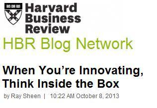 When You're Innovating, Think Inside the Box | Sélection d'articles : innovation | Scoop.it