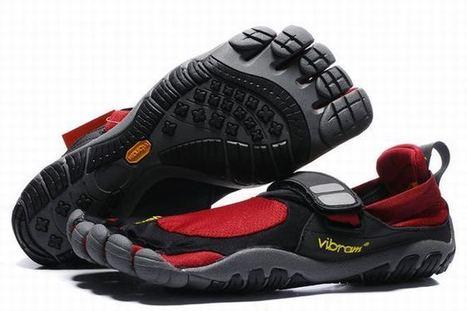 Vibram Five Fingers Treksport Black/Red Men's | new style | Scoop.it