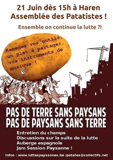 21 juin : Assemblée & suite de la lutte patatiste ! - Luttes paysannes / Steun aan de Boerenstrijd | Souveraineté Alimentaire | Scoop.it