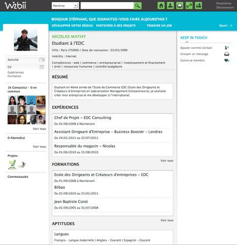 Le réseau social Wizbii paré à connecter jeunes et recruteurs | Collaboratif-Info | Recrutement et RH 2.0 | Scoop.it