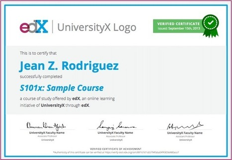 Verified Certificates | edX | Educational Technology in Higher Education | Scoop.it
