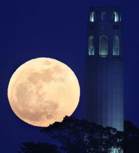 La Lune de périgée a illuminé le ciel  | LeMonde.fr | Looks -Pictures, Images, Visual Languages | Scoop.it