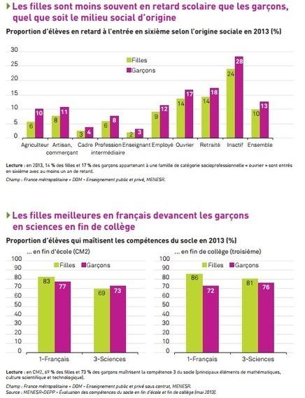 Filles et garçons, les statistiques du plan pour l'égalité à l'école - digiSchool | Egalité Filles Garçons | Scoop.it