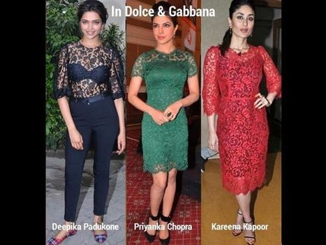 Who Wore The D&G Lace Better? | Celebrity fashion | Scoop.it