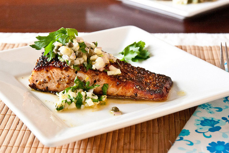#Recipe / Coriander Crusted Salmon with Fennel Salsa Verde Recipe | Healthy Food | Scoop.it