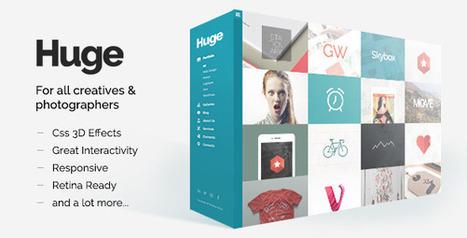 Huge - Unique & Modern 3D Portfolio for Creatives - WordpressThemeDB | WordpressThemeDatabase | Scoop.it