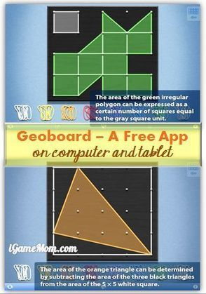 Free App: Geoboard Making Math and Geometry Fun | iGameMom | Edtech PK-12 | Scoop.it