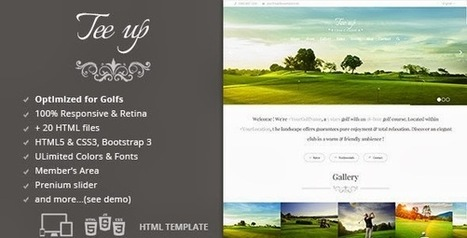 Tee Up - Golf Responsive HTML5 Template - Download! New Themes and Templates | Golf Marketing | Scoop.it