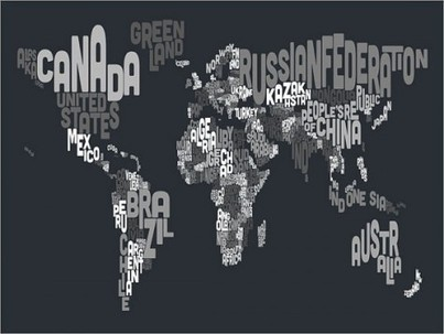 Piccsy :: Typographic Text Map of the World Art Print | Map@Print | Scoop.it