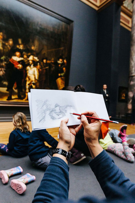 """Museum """"#Bans"""" #Cameras and Encourages #Visitors to Experience the #Artwork by #Drawing It. #art 