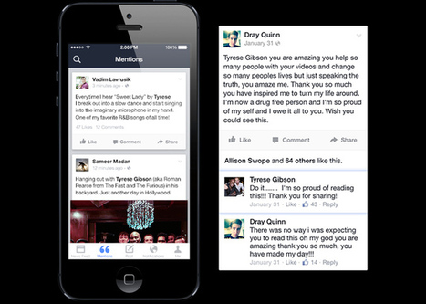 Facebook lance Mentions, un Twitter-like pour célébrités | Infos sur le milieu musical international | Scoop.it