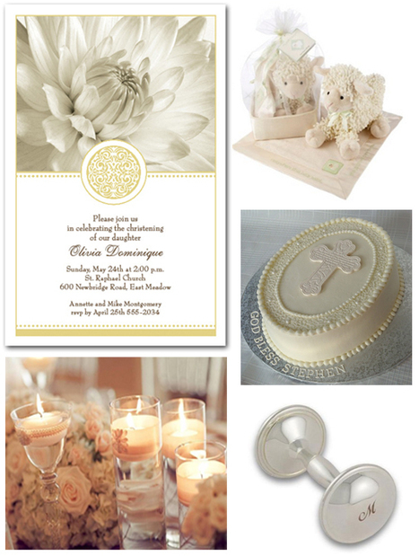 Golden Elegance Christening Invitations and Party Ideas | Party Invitations | Scoop.it