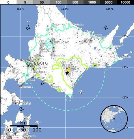 M6.9 - 15km SW of Obihiro, Japan 2013-02-02 14:17:34 UTC | Japan Tsunami | Scoop.it