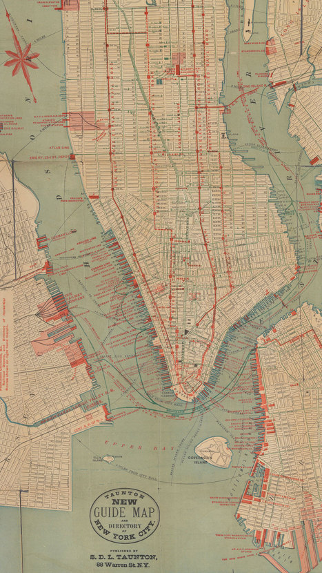 Fascinating Old Maps of Both Real and Ridiculous NYC Transit Projects | Travel Bites &... News | Scoop.it