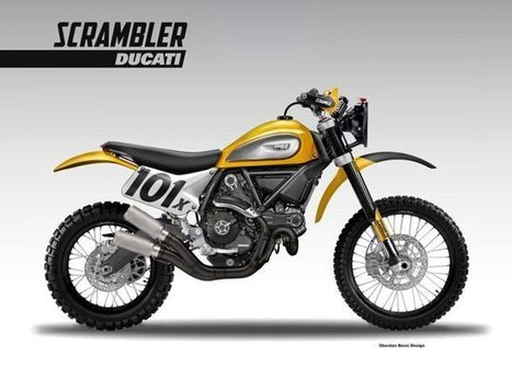 Ducati Scrambler Baja Racer Concept by Oberdan Bezzi | Ductalk Ducati News | Scoop.it