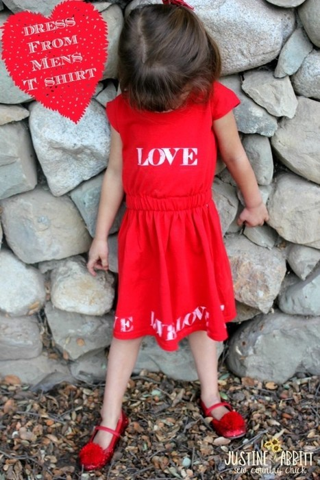 Upcycled T Shirt Dress Tutorial For Valentine's day!!   Handmade   Scoop.it
