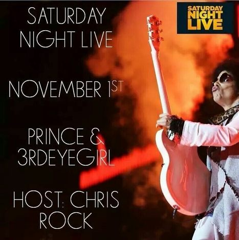 PRINCE ON SNL NOVEMBER 1st, Host Chris ROCK | Celebrity Culture and News... All things Hollywood | Scoop.it