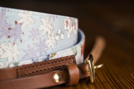 Kimi Camera Straps are Made from Vintage Kimono Silk and Leather | Partage Photographique | Scoop.it