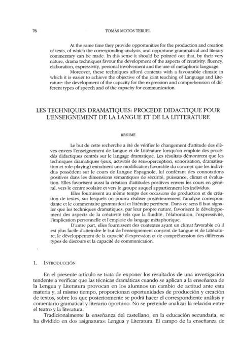 Las técnicas dramáticas: procedimientos didácticos para la enseñanza de la lengua y la literatura | Lengua y didáctica | Scoop.it