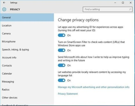 Staying Private in Windows 10 | Criminal Justice in America | Scoop.it