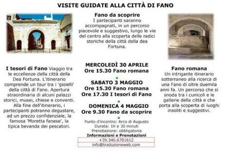 Visite guidate alla città di Fano nel weeekend del I° Maggio - Vivere Fano | Il piacere del bere | Scoop.it