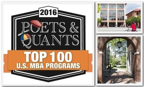 2016 Poets&Quants' MBA Ranking | Noticias educación - business schools | Scoop.it