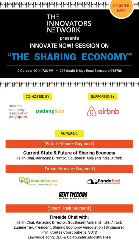[Singapore] Innovate Now! Session on The Sharing Economy - e27 | Peer2Politics | Scoop.it