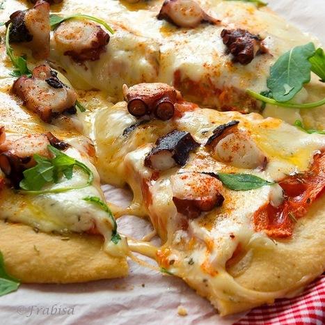 La cocina de Frabisa: Pizza Gallega de Pulpo y Queso de Tetilla. Receta | Recetas | Scoop.it