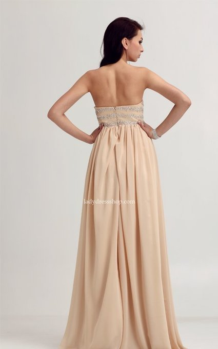 Evermiss 1065 Beaded Bodice Nude Strapless Gorgeous Chiffon Long Prom Dresses [Evermiss 1065] - $174.00 : Ladys Dresses | Dresses Cheap for Lady | prom dress | Scoop.it