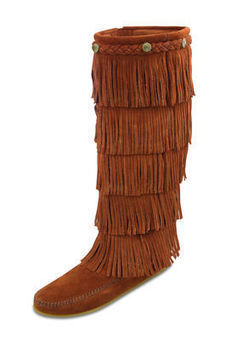 5-layer Fringe Boot - Shop Mens, Womens, Childrens Moccasins - The Moccasin Shop | Minnetonka Moccasin Shop | Scoop.it