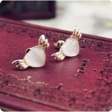 Fashion Lovely Angle Wings Opal Stud Earrings SP02208 | fashion and cheap jewelry | Scoop.it